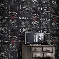 COFFEE SHOP BLACKBOARD WALLPAPER - RASCH 234602 RETRO