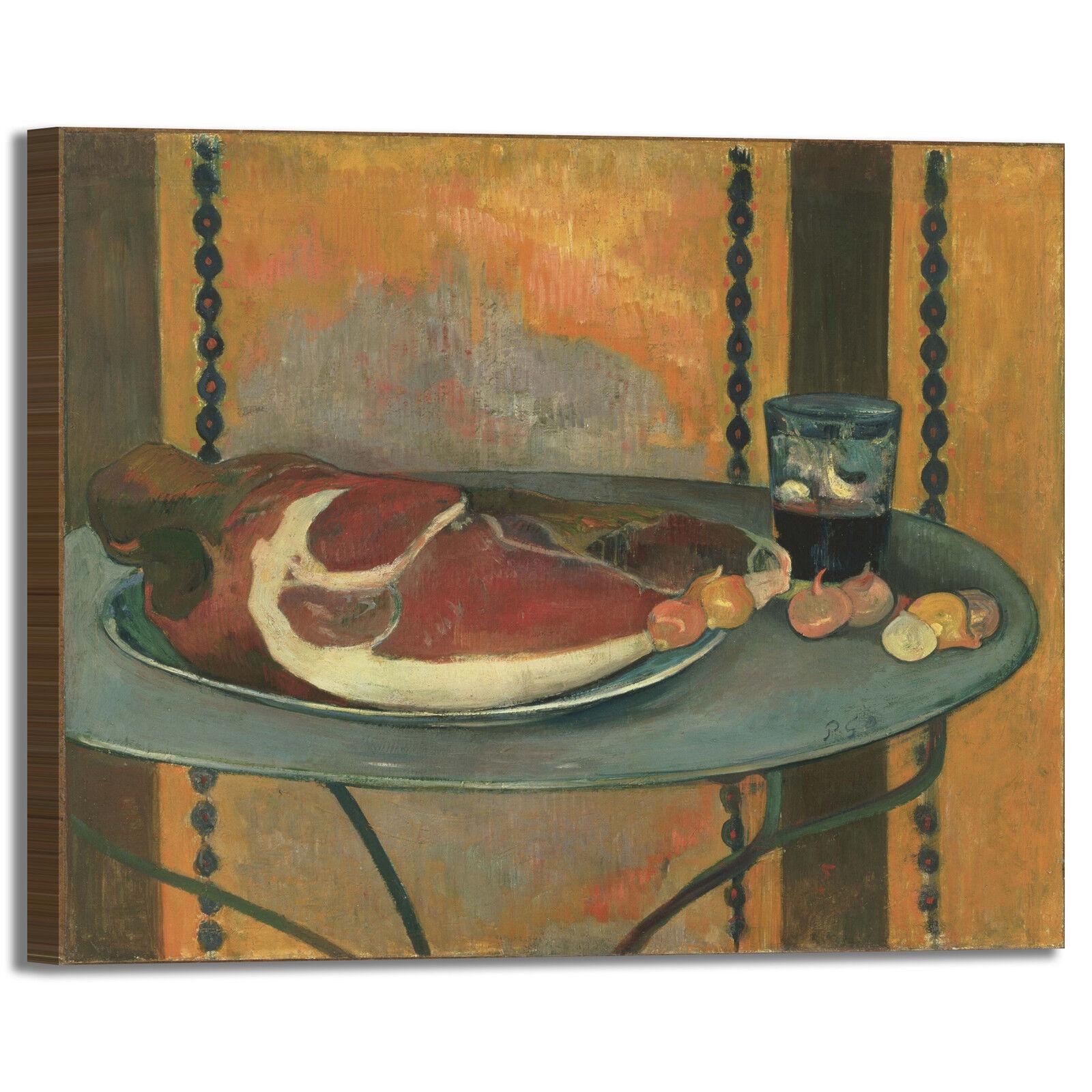 Gauguin il prosciutto design quadro stampa tela dipinto telaio arroto casa