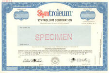 Syntroleum Corporation Specimen Del 00004000 aware old stock certificate share