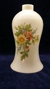 Vintage-Milk-Glass-Hurricane-Oil-Lamp-Shade-w-hand-painted-floral-design-9-034