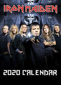 Iron-Maiden-2020-Wall-Calendar-amp-Stickers-Additional-Calendars-HALF-PRICE