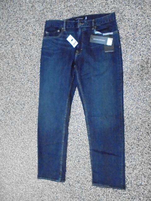 943e88b047e NWT Banana Republic Slim Fit Men s Rapid Movement Jeans Dark Indigo W 32 ...