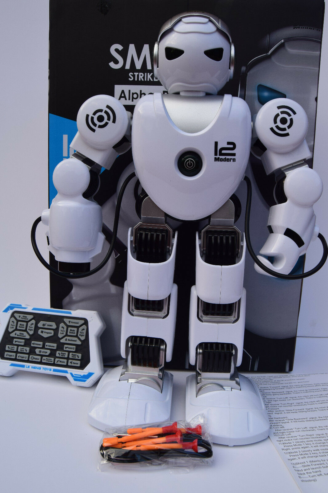 SMART STRIKE ROBOT SHOOTS FIRES MISSLE WALKS SLIDES DANCES REMOTE CONTROL