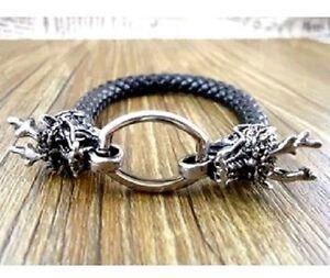 Tibet Ethnischen Leder Tibet Silber Drachen Bettelarmband Ebay