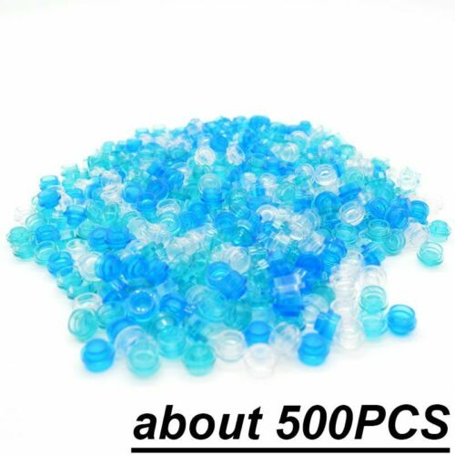 500Pcs Round Plate 1x1 Transparent Simulated Ocean Boats Building Block Toy Kids