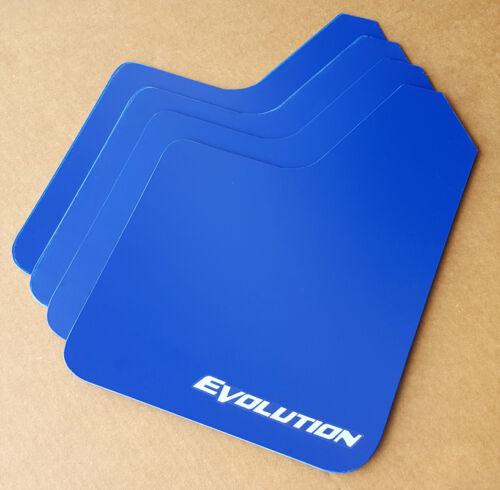 StreetRays 08-15 Mitsubishi EVO X Mud Flaps Set BLUE with Logo /& Hardware Kit