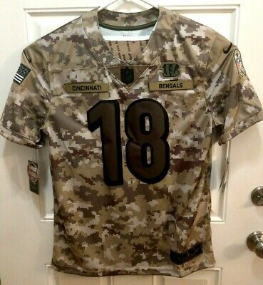 Nike Salute To Service Cincinnati Bengals 18 AJ Green Jersey AH4936 336 Size L | eBay