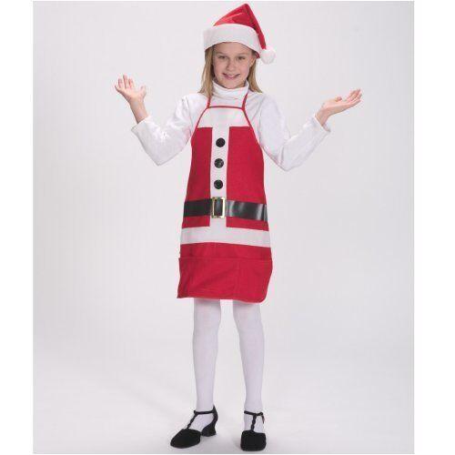 Child Santa/'s Helper Christmas Apron//Hat Santa Costume Halco 7060C LOT OF 3 NWT
