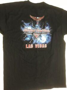 Vintage-Harley-Davidson-Cafe-Las-Vegas-Mens-Black-T-Shirt-XL