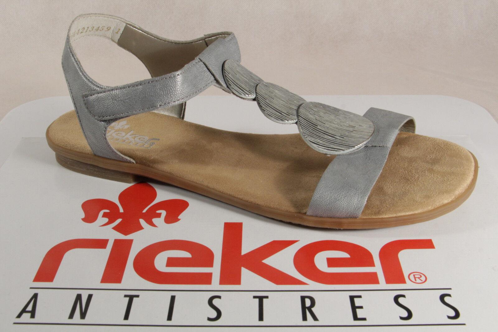 Rieker Ladies Inner Sandals Sneakers Grey, Soft Inner Ladies Sole 64263 New 651e48