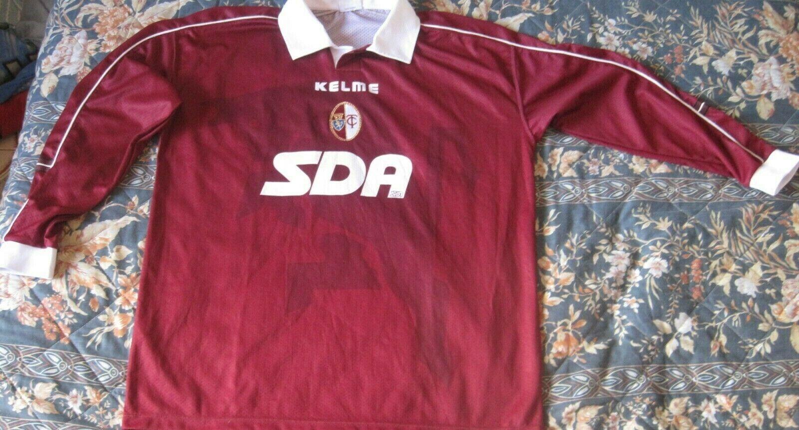 Maglia Shirt Camiseta Maillot TORINO Kelme Long Sleeve Match Worn 1998 Vintage