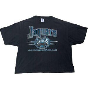 Vtg-Jacksonville-Jaguars-Shirt-Sz-XXL-Black-Green-Short-Sleeve-Single-Stitch
