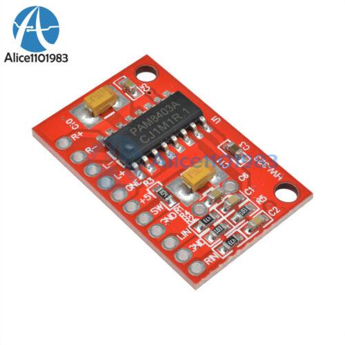 5PCS 2-Channels 3W Digital power PAM8403 Class D Audio Amplifier Board USB DC 5V