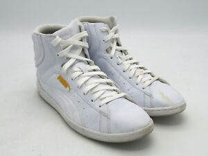 Details about D2259 Pre Owned Women's Puma Vikky Mid Deboss White High Top Sneakers Size 7.5 M