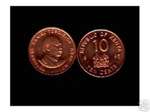 KENYA AFRICA 10 CENTS KM31 1995 X 50 PCS MOI UNC CURRENCY MONEY COIN LOT