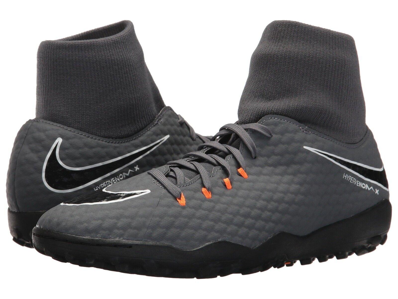 Nike phantomx 3 academy di tf Uomo grigio scuro / totale arancione bianco ah7276-081 scarpe