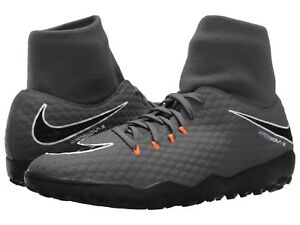 super popular e65f8 071c2 Details about Nike PHANTOMX 3 ACADEMY DF TF Mens Dark Grey/Total  Orange-White AH7276-081 Shoes