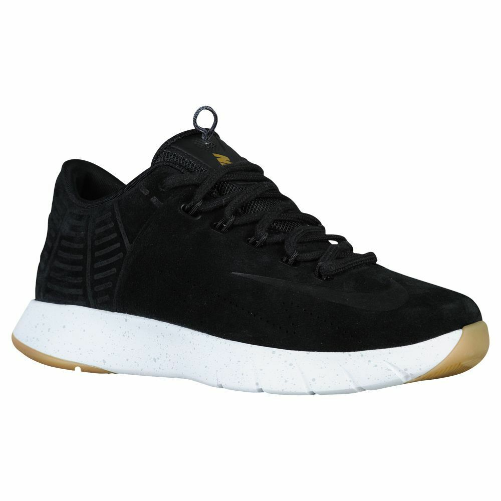 Men's Nike LUNAR HYPERREV LOW EXT, Sizes 802557 001 Sizes EXT, 8-13 Black/Metallic Silver/W 3ce487