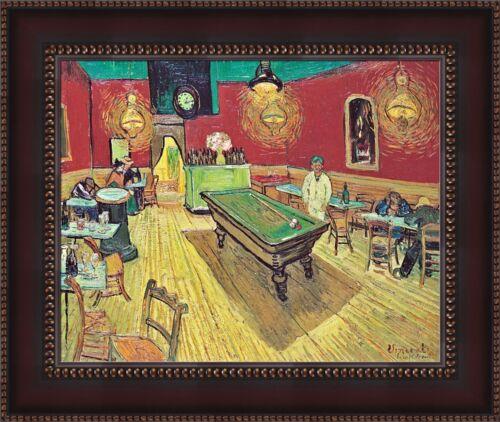 "Vincent van Gogh The Night Cafe Framed Canvas Giclee Print 27/""x22.5/"" V06-40"