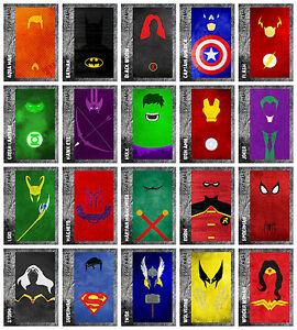 DC-MARVEL-SUPER-HERO-AVENGERS-Wall-Art-Deco-PERSONALISED-Buy-1-Get-2-FREE