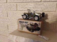 Jeep Tin Toy Wind Up Willys 1941 Tin Litho Clockwork NIB DL