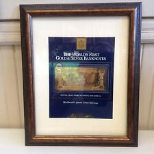 Framed Gold & Silver first banknote of Antigua and Barbuda issued 1981   (M2)