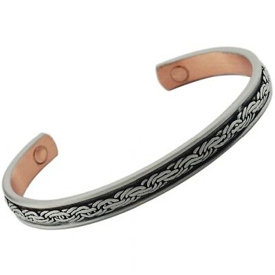 MAGNETIC MENS LADIES BRACELET COPPER BANGLE ARTHRITIS RELIEF MAGNETIC THERAPY