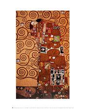 Gustav Klimt Fulfillment Poster Kunstdruck Bild 36x28cm - Kostenloser Versand