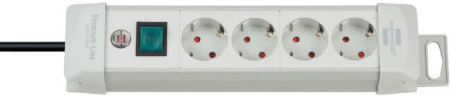 Brennenstuhl Premium-Line Steckdosenleiste Mehrfachstecker 1,8 m lichtgrau