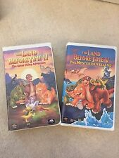 LOT OF 2 THE LAND BEFORE TIME II AND THE LAND BEFORE TIME V VHS MOVIES RATED G