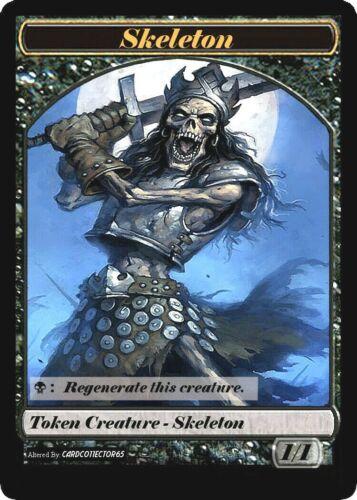 Skeleton Token x4 *CUSTOM* MTG Magic the Gathering