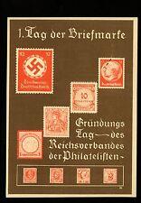 Postal History Germany H&G #K10+Scott #473 on Postal Card picturing Stamps 1936