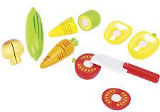 Gemüse schneiden 51598  Goki Holzgemüse 12 Teile  Kaufladen Kinder-Küche