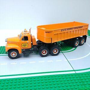 First-Gear-1st-1960-Mack-Model-B-61-Truck-Dump-Trailer-State-Hwy-Dept-1997