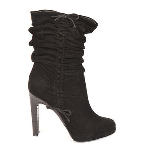 005b907c91f Details about Gucci NEW Black Ruched Suede Boots - Size 9