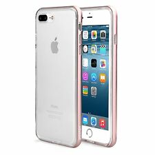 Pawtec iPhone 7 Plus Clear Full Protective TPU Bumper Case with Aluminum Frame