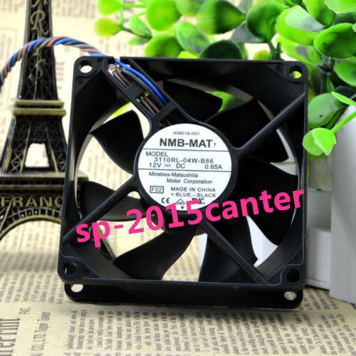 NMB 3110RL-04W-B86 Fan 4pin 0.65A 80*80*25mm HP P//N 406016-001 Original Part j4