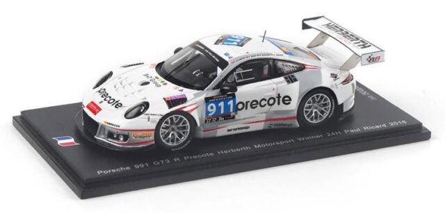 SPARK SF110 PORSCHE 911 GT3 R #911 WINNER 24 H PAUL RICARD 2016-échelle 1//43