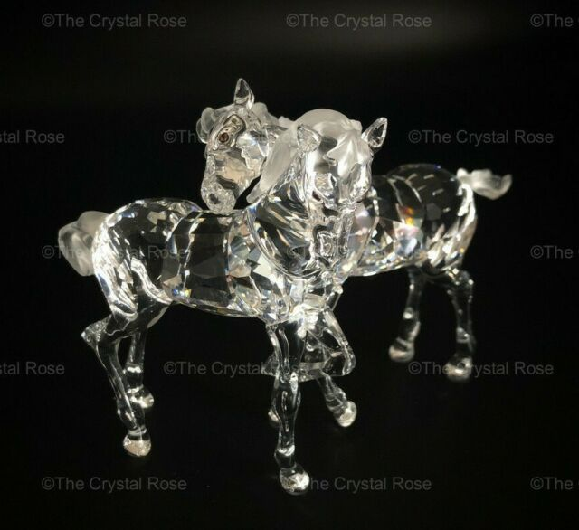 RARE Retired Swarovski Crystal Foals / Horses 627637 Clear Mint Boxed