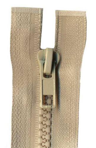 40cm Beige Open End Chunky Zip