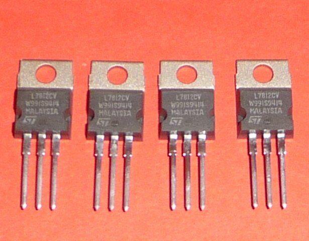 4x Org Stm L7812 Cv Regulador de Voltaje Fijo Adaptador Red + 12V NOS Calidad