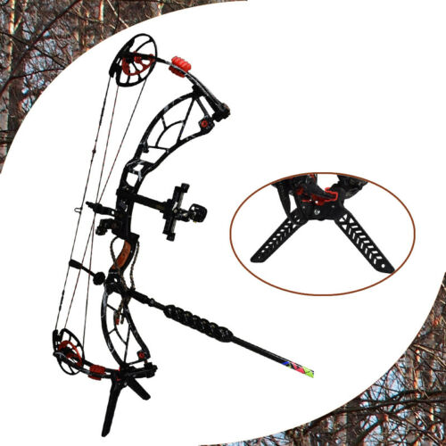 New Compound Bow Kick Stand Holder Legs Target Shooting Archery Bow Support Hold
