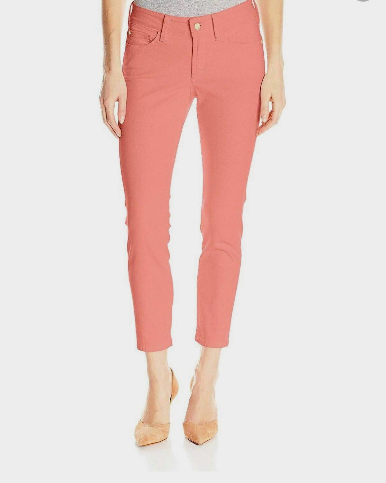 NYDJ Alina Congreenible Ankle Jeans M77Z1864 Coral Size 10