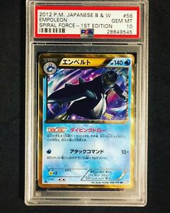 PSA-10-GEM-MINT-Japanese-1st-Ed-Empoleon-Secret-Rare-056-051-BW-Pokemon-Card