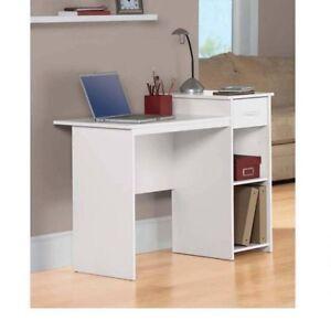 STUDENT DESK COMPUTER Workstation Home Office Study Dorm Wood Modern Kids White