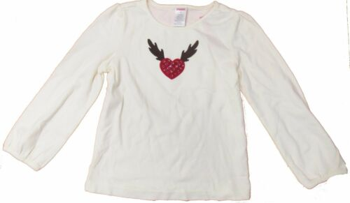 Love Gymboree Youth Girl Long Sleeve Shirt Heart Moose Antlers Sz 5 Valentines