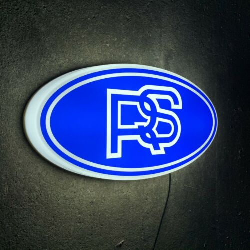 RS LOGO SIGN LED ILLUMINATED LIGHT GARAGE PETROL GASOLINE CAR  FOCUS COSWORTH