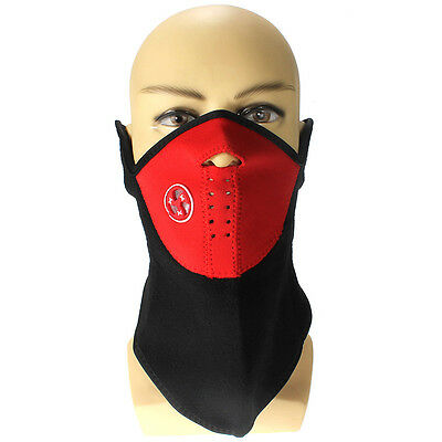 Red Polyester Motorcycle Bike Cycling ATV Ski Snowboard Neck Face Mask Neoprene
