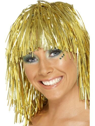 Gold Cyber torsadeß wig 1970/'s 1980/'s Smiffy/'s Fancy Dress Accessory
