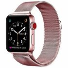 iWatch Milanese Loop Stainless Steel Bracelet Strap Band Apple Watch 38mm Pink